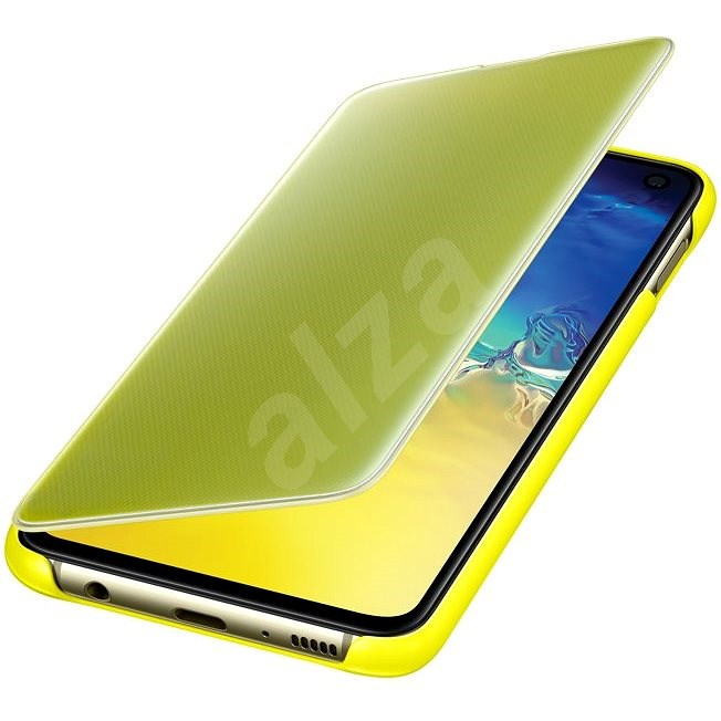 Samsung Galaxy S10e Clear View Cover Yellow - Mobile Phone Case