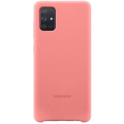 Samsung Silicone Back Case for Galaxy A71 Pink - Mobile Case