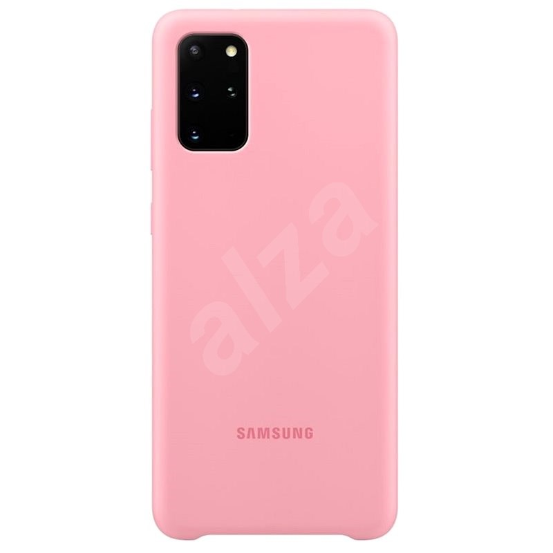 Samsung Silicone Back Cover for Galaxy S20+, Pink - Mobile Case