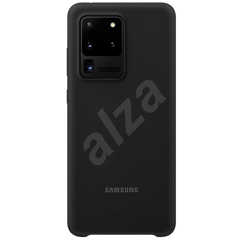 Samsung Silicone Back Cover for Galaxy S20 Ultra, Black - Mobile Case