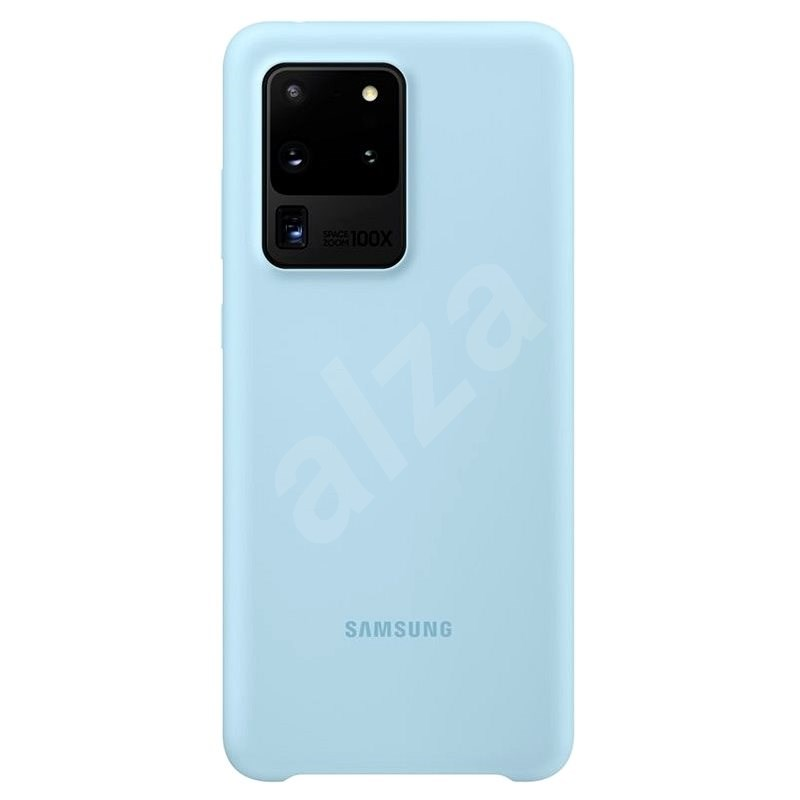 Samsung Silicone Back Cover for Galaxy S20 Ultra, Blue - Mobile Case