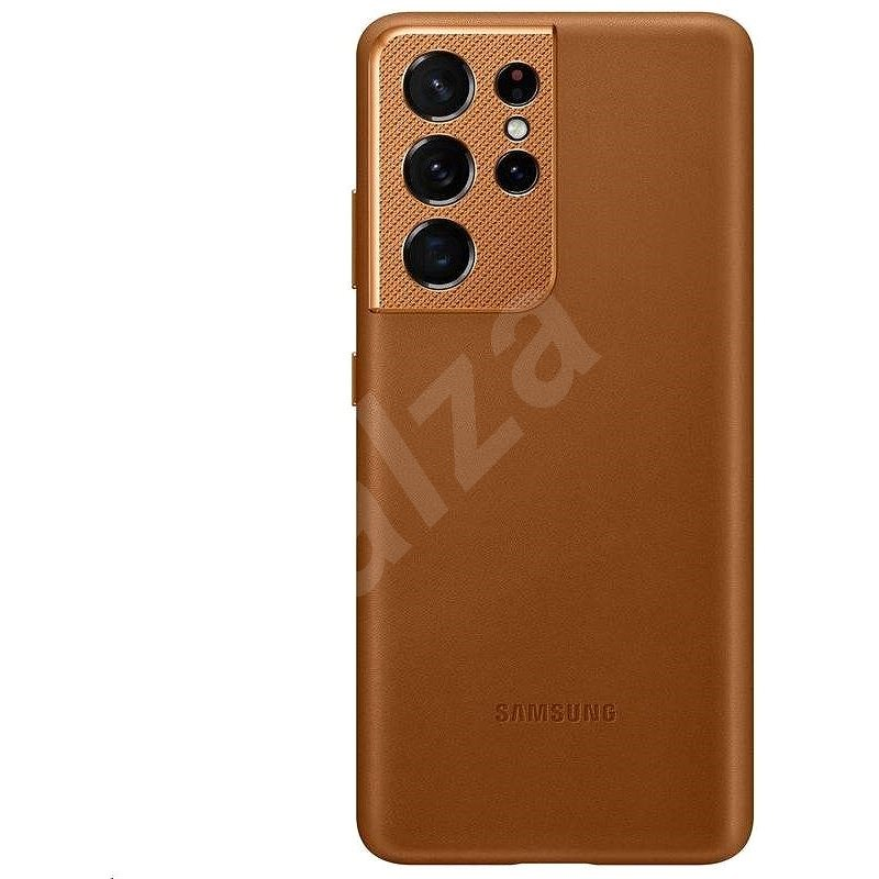 Samsung Leather Cover for Galaxy S21 Ultra Brown - Mobile Case