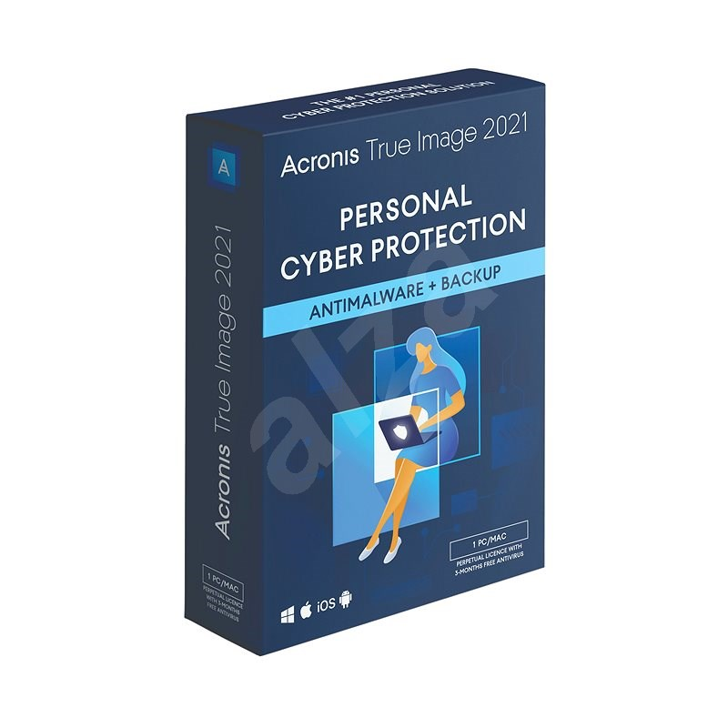 Acronis True Image 2021 Essential for 1 PC for 1 year (Electronic License) - Backup Software