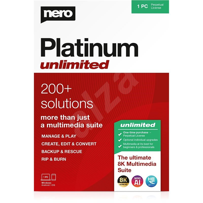 Nero Platinum Unlimited 7-in-1 CZ (Electronic License) - Burning Software