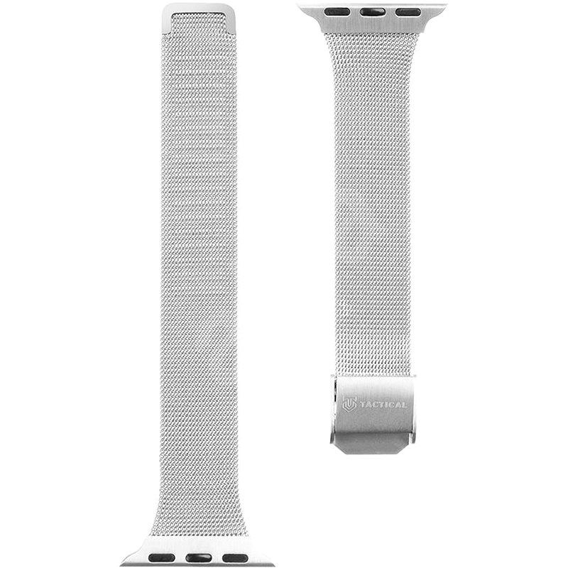 Tactical Loop Slim Metal Band for Apple Watch 38/40mm, Silver - Watch Band