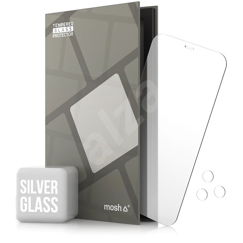 Tempered Glass Protector Mirror for iPhone 12 Pro Max, Silver + Camera Glass - Glass Protector