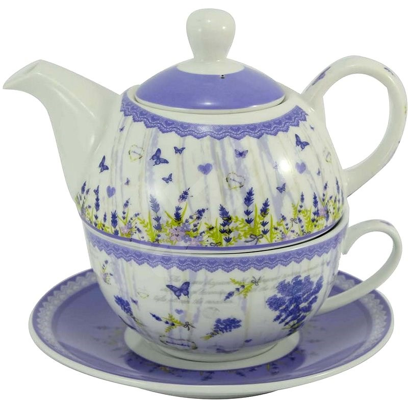 HOME ELEMENTS Tea Set for One, New Lavender - Set of Cups