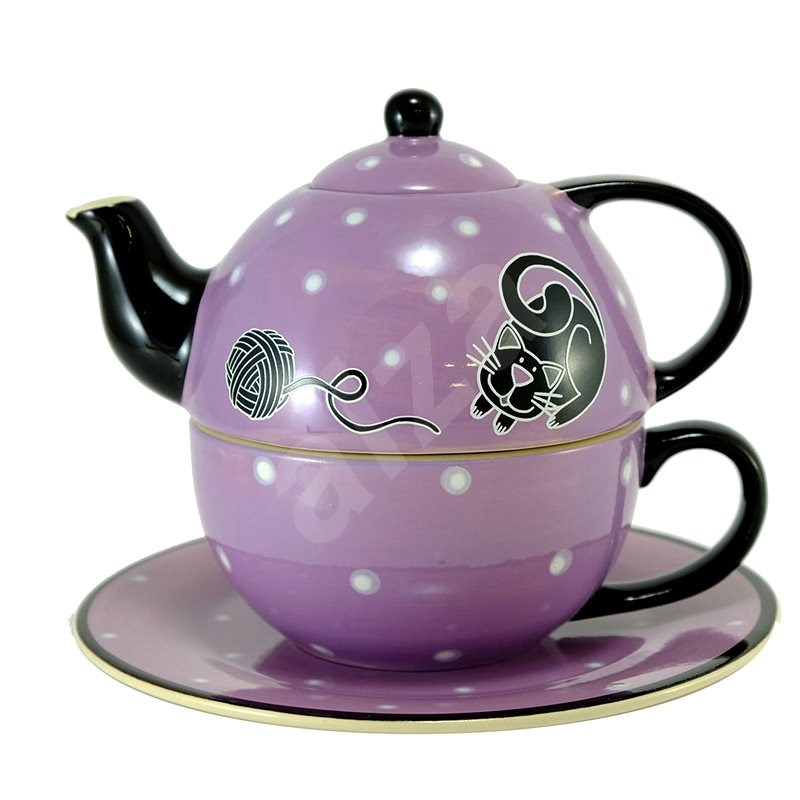 HOME ELEMENTS Tea Set for One, Cat - Set of Cups