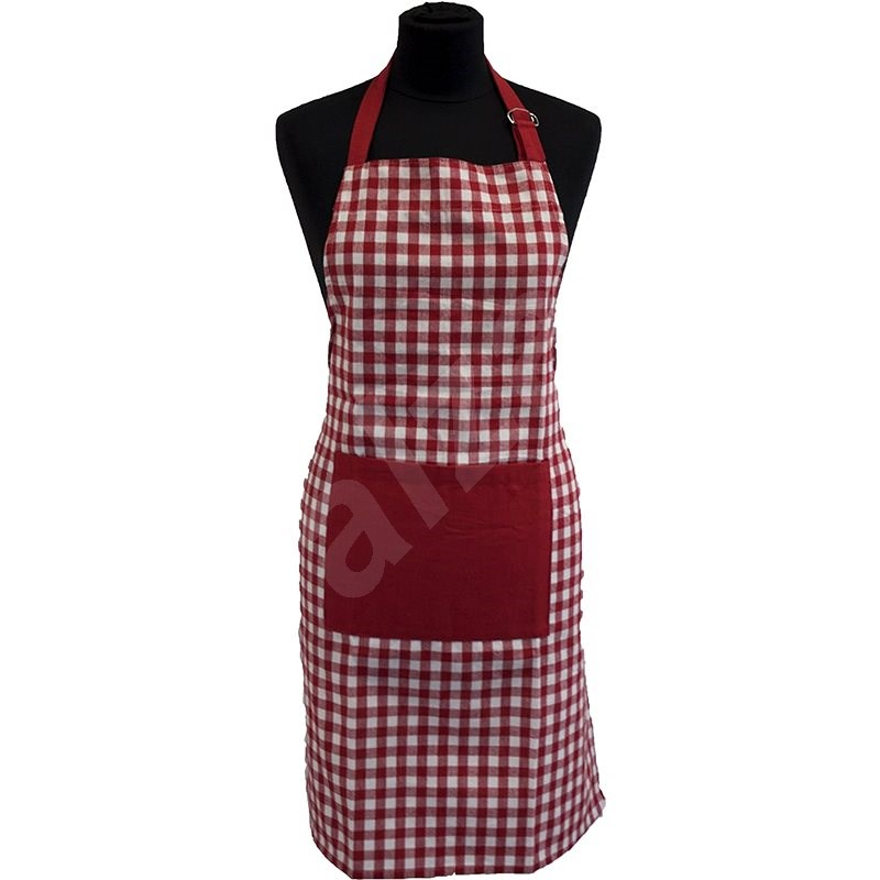 HOME ELEMENTS Cooking Apron, Red Canvas - Apron