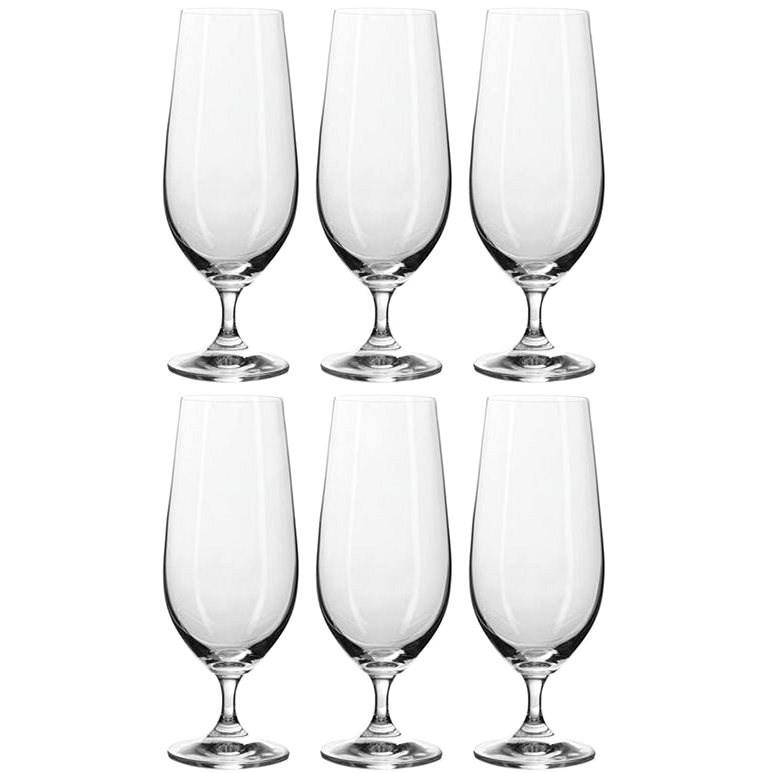 BANQUET Beer glasses 6pcs Leona Crystal 370ml A11306 - Beer Glass