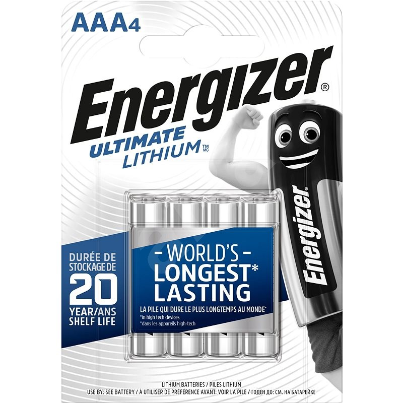 Energizer Ultimate Lithium AAA/4 - Disposable Battery