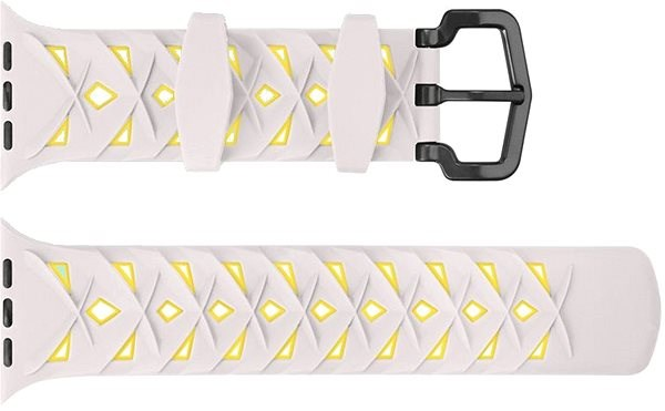 Eternico 38mm Apple Watch Silicone Band, Beige Yellow - Watch band