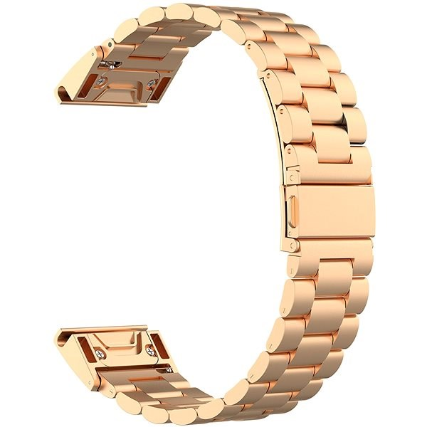 Eternico Garmin Quick Release 20 Stainless Steel Band, Rose Gold - Watch band
