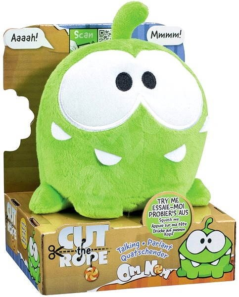 Cut The Rope Om Nom With Sound Plush Toy Alzashop Com