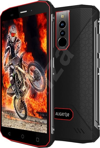 Aligator RX600 eXtremo black-red - Mobile Phone