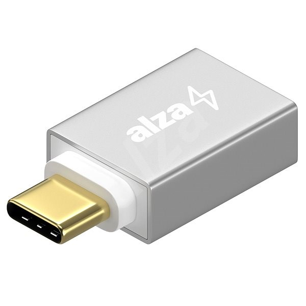 AlzaPower OTG USB-C (M) to USB-A 3.0 (F) Silver - Adapter