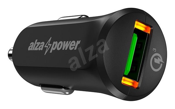 AlzaPower Car Charger X310 Quick Charge 3.0 Black - Car Charger