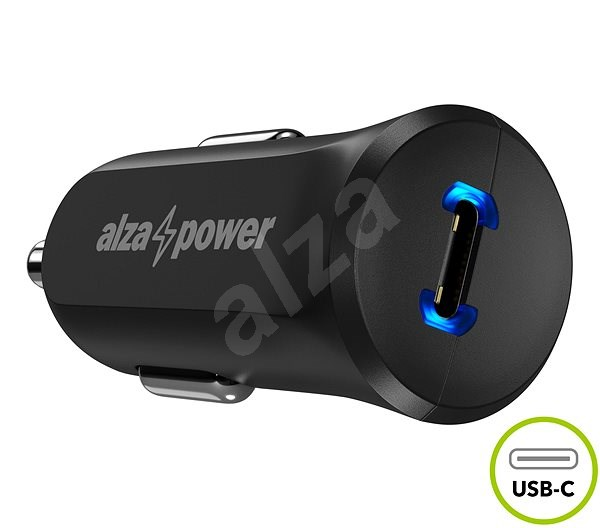 AlzaPower Car Charger P310 Power Delivery Black - Car Charger