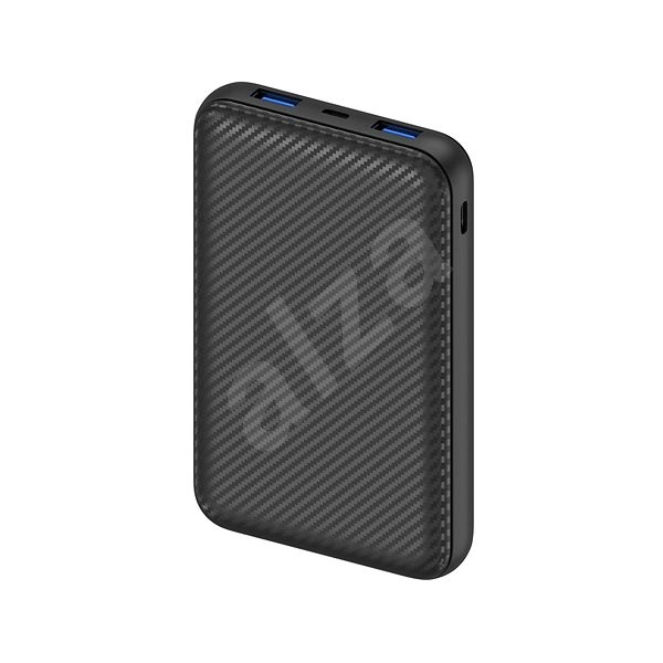 AlzaPower Carbon 10,000mAh Fast Charge + PD3.0 Black - Powerbank