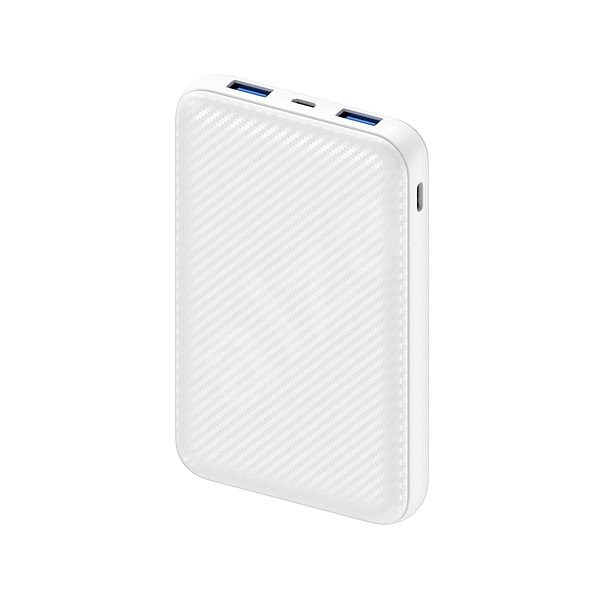 AlzaPower Carbon 10.000mAh Fast Charge + PD3.0 White - Powerbank