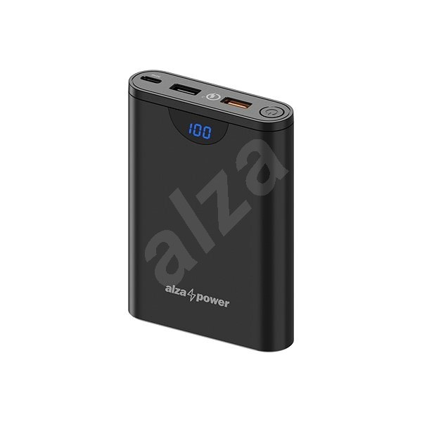 AlzaPower Unlimited 10000mAh Power Delivery 3.0 (30W) Black - Powerbank