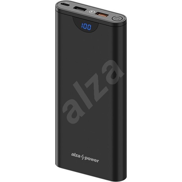 AlzaPower Unlimited 20,000mAh Power Delivery 3.0 (45W) Black - Powerbank