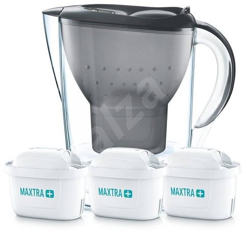 BRITA Marella Black Starter Pack PO (incl. 3MX+) - Water filter