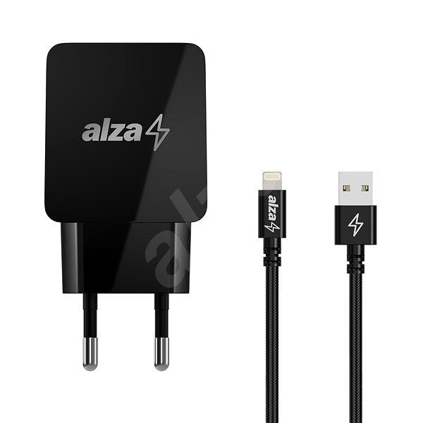 AlzaPower Q100 Quick Charge 3.0 + AlzaPower AluCore Lightning MFi, 1m, Black - Charger