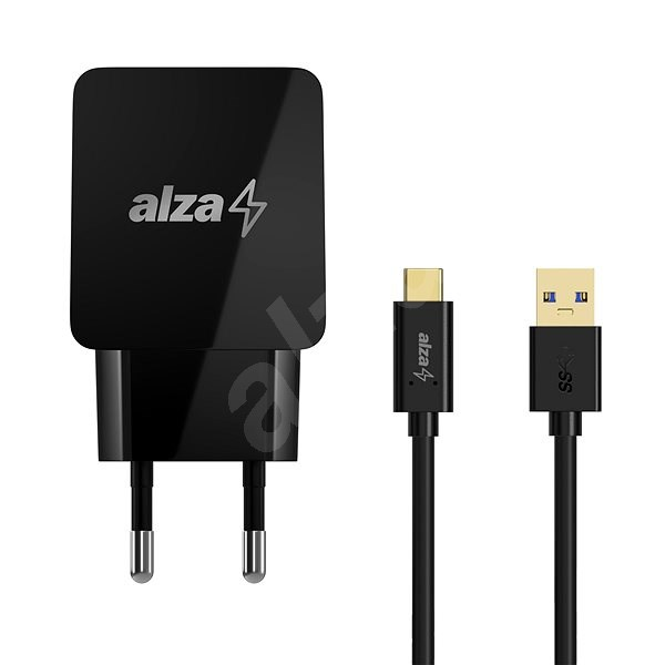 AlzaPower Q100 Quick Charge + AlzaPower Core USB-C 3.2 Gen 1, 1m, Black - Charger