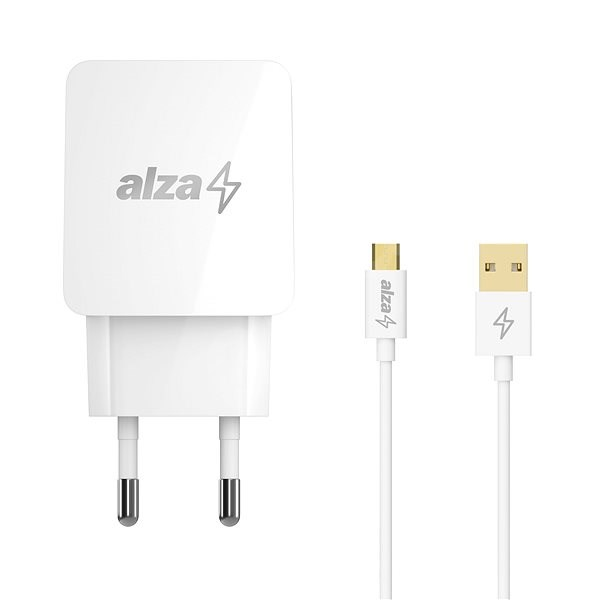 AlzaPower Q100 Quick Charge 3.0 + AlzaPower Core Micro USB 1m white - AC Adapter