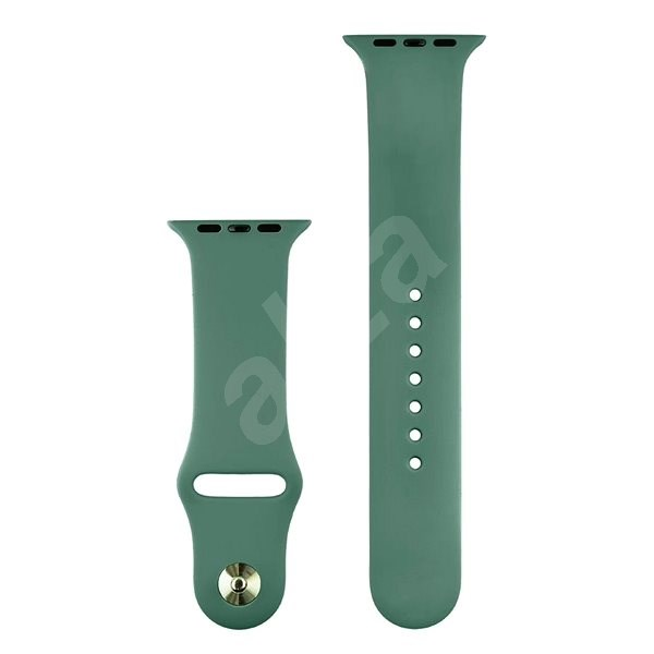 COTEetCI Silicone Sports Strap for Apple Watch 38/40mm Coniferous Green - Watch band