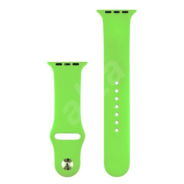 COTEetCI Silicone Sports Strap for Apple Watch 42/44mm Green - Watch band