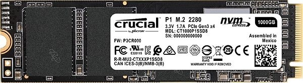 Crucial P1 1TB M.2 2280 SSD - SSD Disk