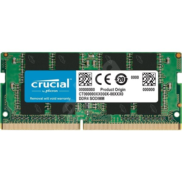 Crucial SO-DIMM 8GB DDR4 2400MHz CL17 Single Ranked x8 - System Memory