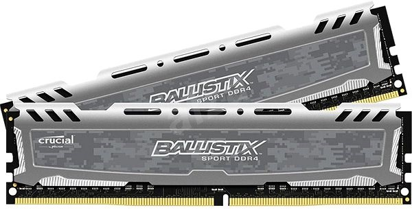 Crucial 16GB KIT DDR4 3000MHz CL16 Ballistix Sport LT Single Ranked Grey - System Memory