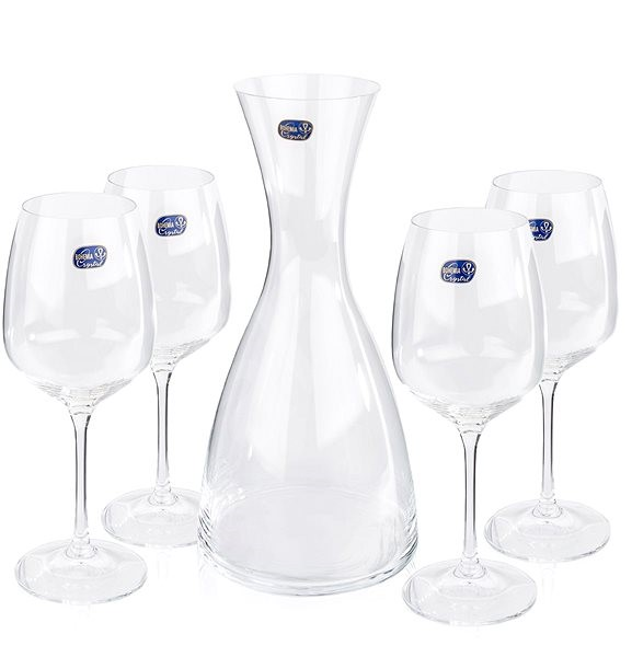 Crystal GISELLE WINE SET carafe and wine glass - Carafe