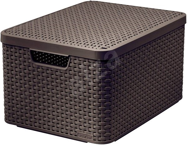 Curver Style Box With Lid L 03619 210 Brown