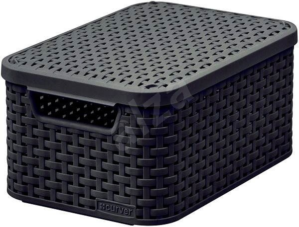 rattan basket small from storage box.htm curver storage box rattan style2 with lid s storage box  curver storage box rattan style2 with