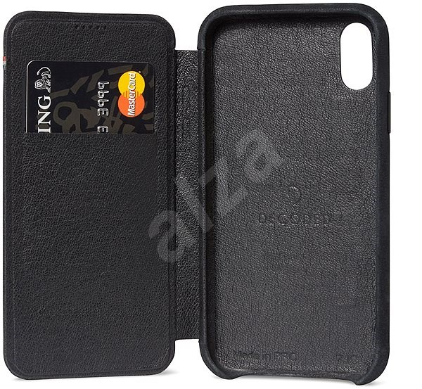 uk availability 6d1f8 88ffe Decoded Leather Slim Wallet Black iPhone XR - Mobile Case ...