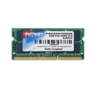 PATRIOT 4GB SO-DIMM DDR3 1066MHz CL7 Signature Line - System Memory
