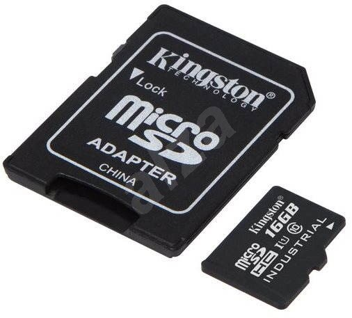 Kingston Micro SDHC 16GB Class 10 UHS-I Industrial Temp + SD Adapter - Memory Card