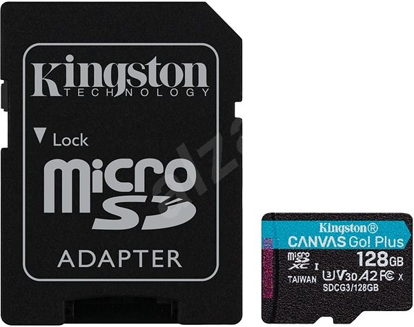 Kingston Canvas Go! Plus microSDXC 128GB + SD Adapter - Memory Card