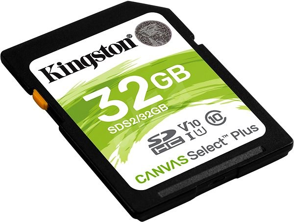 Kingston Canvas Select Plus SDHC 32GB Class 10 UHS-I - Memory Card