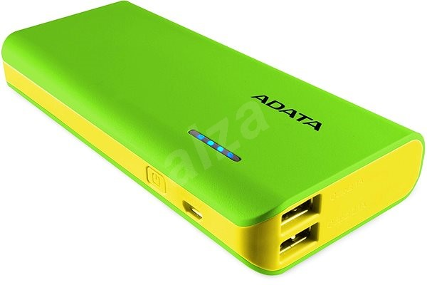 ADATA PT100 Power Bank 10,000mAh Green-Yellow - Powerbank