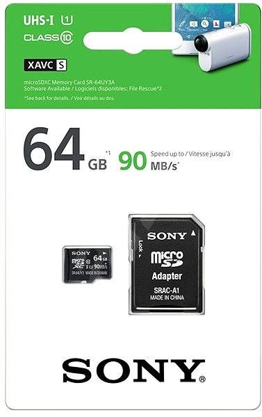 Sony micro SDXC 64GB Class 10 UHS-I + SD Adapter - Memory Card