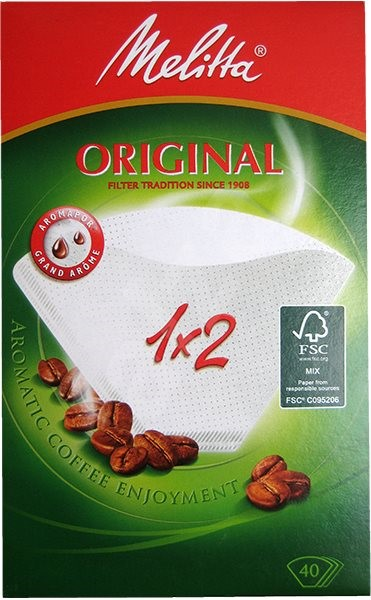 Coffee filters Melitta 1x2/40 white - Coffee Filters