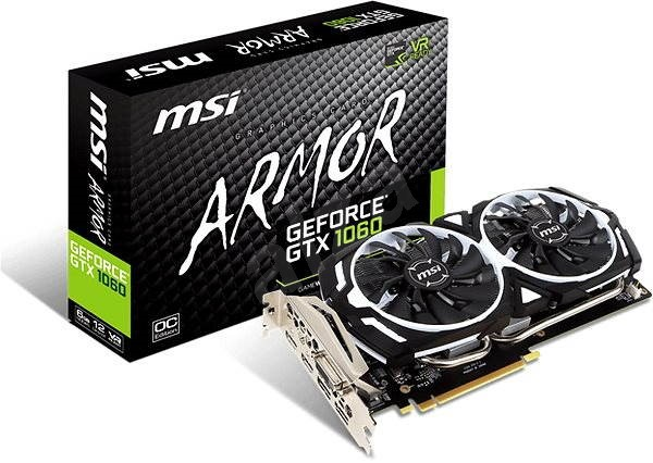 MSI GeForce GTX 1060 ARMOR 6G OCV1 - Graphics Card