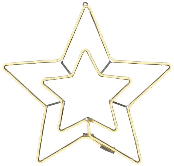 LED Neon Star Double, Outdoor, Warm White, Timer - Christmas Lights