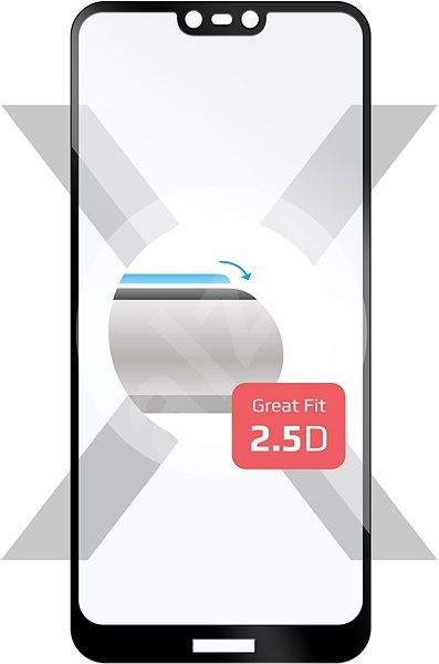 FIXED Full-Cover Tempered Glass for Nokia 7.1 black - Glass protector