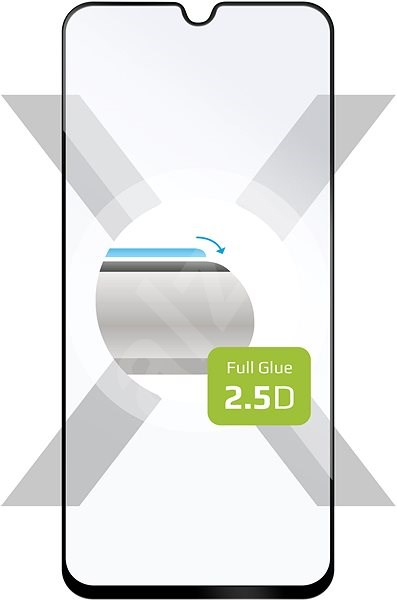 FIXED Full-Cover for Samsung Galaxy A40 Sticking for Full Screen. Black - Glass protector